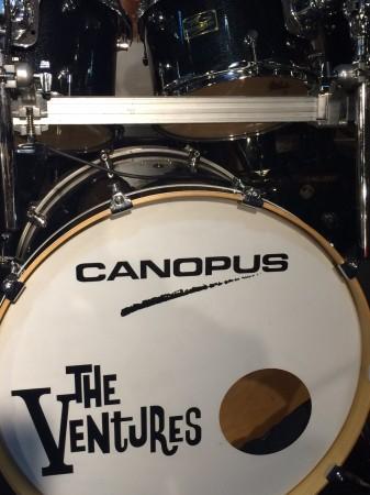 The Ventures リオン・テイラーが日本ツアーで実際に使用したドラムセット